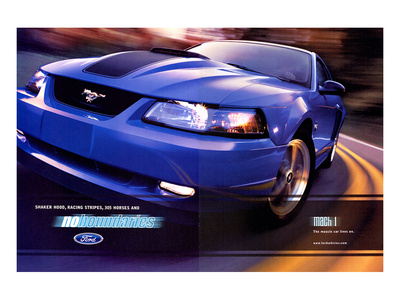 2003 Mustang-Stripe&305 Horses Poster