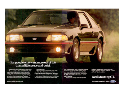 1988 Mustang More Out of Life Poster
