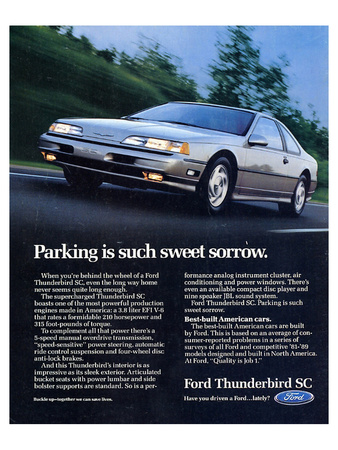 1990 Thunderbird Sweet Sorrow Print
