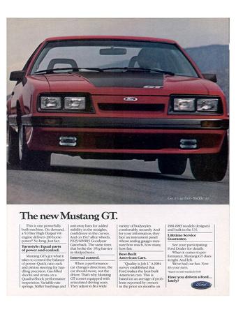 1985 the New Mustang GT Art