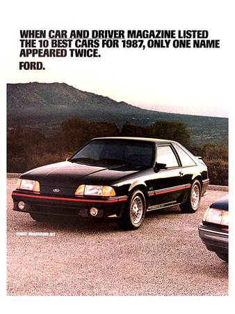 1987 Mustang 10 Best Cars Posters