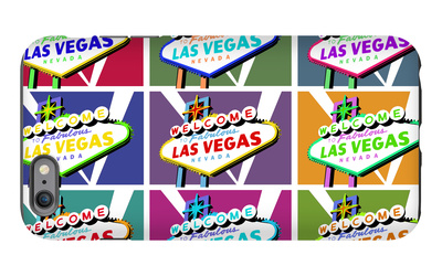 Las Vegas, Nevada - Welcome Sign Pop Art iPhone 6s Plus Case by  Lantern Press