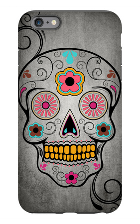 Sugar Skull iPhone 6s Plus Case by  Lantern Press