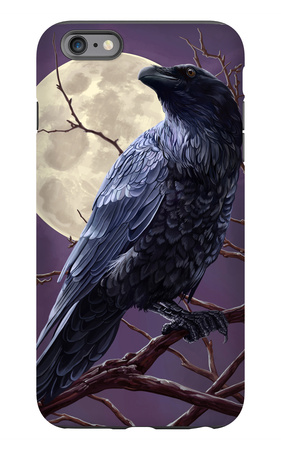 Raven and Moon Purple Sky iPhone 6s Plus Case by  Lantern Press