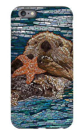 Sea Otter - Paper Mosaic iPhone 6s Plus Case by  Lantern Press