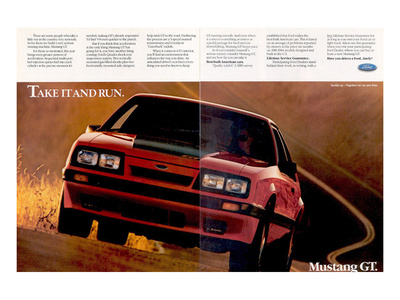 1986 Mustanggt-Take It and Run Posters