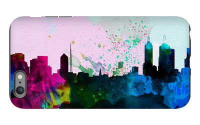 Melbourne City Skyline iPhone 6s Plus Case by  NaxArt