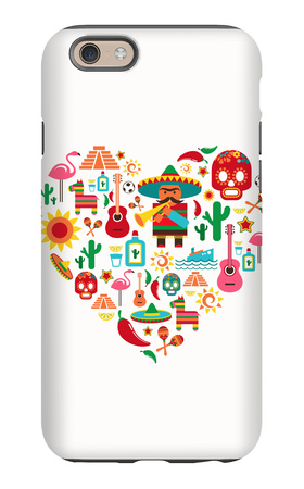 Mexico Love - Heart With Set Ofs iPhone 6s Case by  Marish