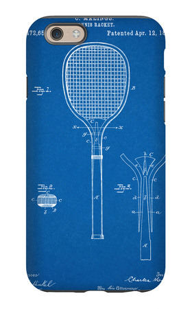 Tennis Racket Patent iPhone 6s Case