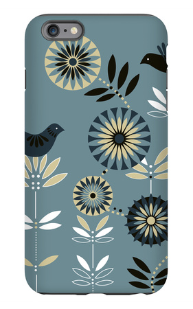 Graphic Birds and Flowers iPhone 6 Plus Case