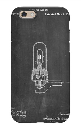 Thomas Edison Light Bulb Patent iPhone 6s Case