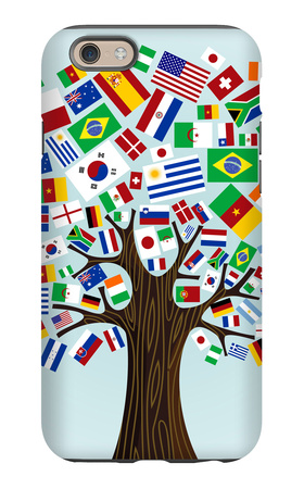 Flags Of The World Tree iPhone 6s Case by  cienpies