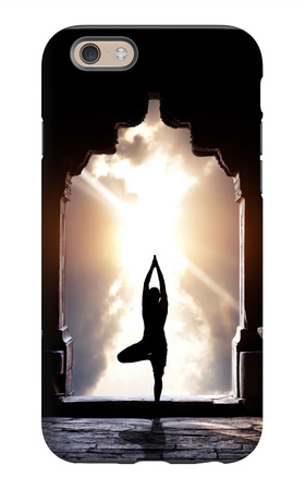 Yoga In Temple iPhone 6s Case by Marina Pissarova