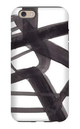 Black and White Abstract Painting 6 iPhone 6s Case by Jaime Derringer