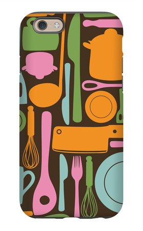 Kitchen Utensils - Seamless Pattern iPhone 6s Case by  kytalpa