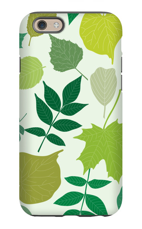 Tree Leaves Seamless Pattern iPhone 6s Case by  elein