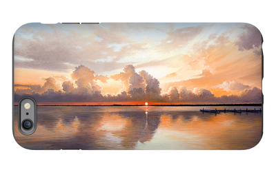 Sunset over Lake iPhone 6 Plus Case by Bruce Nawrocke