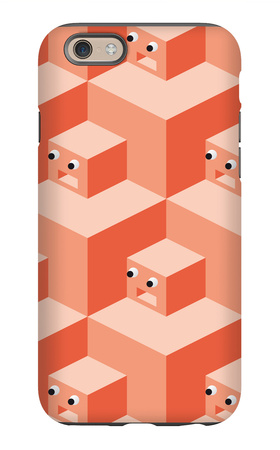 Pattern Cubes Robot iPhone 6s Case by  robodread