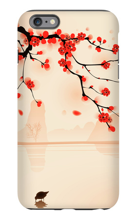 Oriental Style Painting, Plum Blossom In Spring iPhone 6 Plus Case by  ori-artiste