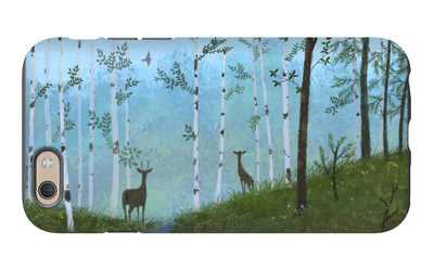 Two Deer on Forest Path iPhone 6s Case
