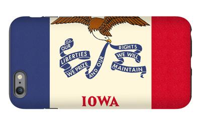 Iowa State Flag iPhone 6 Plus Case by  Lantern Press