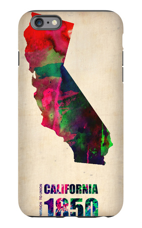 California Watercolor Map iPhone 6 Plus Case by  NaxArt