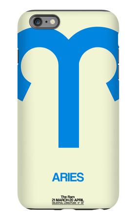 Aries Zodiac Sign Blue iPhone 6 Plus Case by  NaxArt