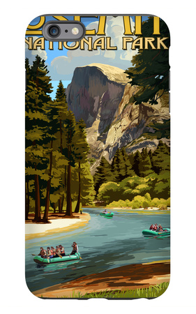 Merced River Rafting - Yosemite National Park, California iPhone 6 Plus Case by  Lantern Press