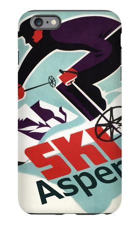 Ski in Colorado Vintage Skier - Aspen, Colorado iPhone 6 Plus Case by  Lantern Press