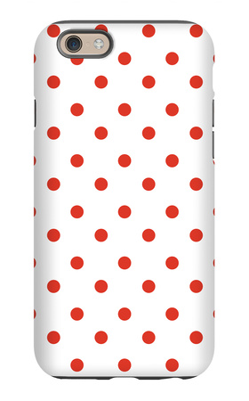 Red Polk-a-dots iPhone 6s Case by  Avalisa