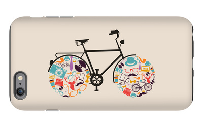 Vintage Hipsters Icons Bike iPhone 6s Plus Case by  cienpies