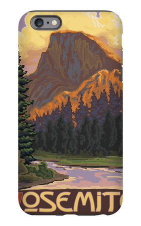 Half Dome, Yosemite National Park, California iPhone 6s Plus Case by  Lantern Press