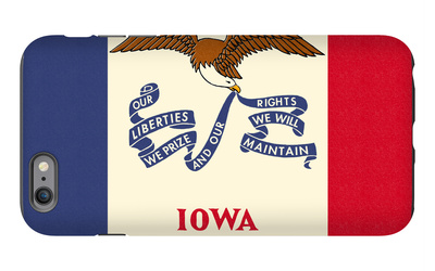 Iowa State Flag iPhone 6s Plus Case by  Lantern Press