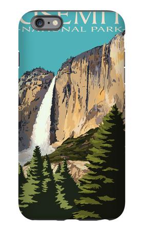 Yosemite Falls - Yosemite National Park, California iPhone 6 Plus Case by  Lantern Press