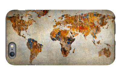 Grunge Map Of The World iPhone 6s Plus Case by  javarman