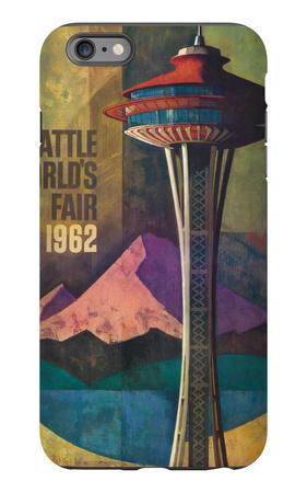 Seattle, Washington - Space Needle World's Fair Promo Poster No. 2 iPhone 6s Plus Case by  Lantern Press