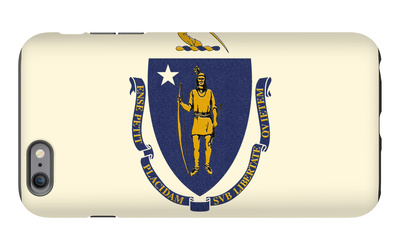 Massachusetts State Flag iPhone 6s Plus Case by  Lantern Press