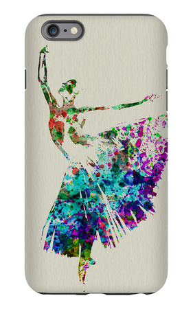 Ballerina Watercolor 5 iPhone 6 Plus Case by  NaxArt