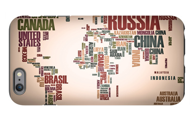 World Map: Countries In Wordcloud iPhone 6s Plus Case by  alanuster