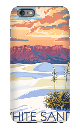 White Sands National Monument, New Mexico - Sunset Scene iPhone 6s Plus Case by  Lantern Press