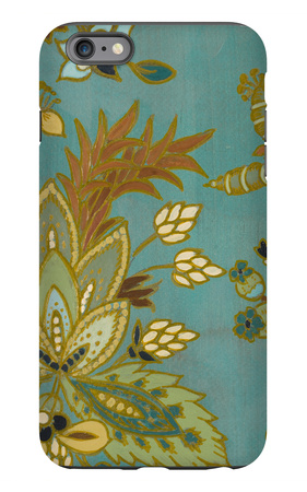 European Floral on Teal I iPhone 6 Plus Case by Lanie Loreth