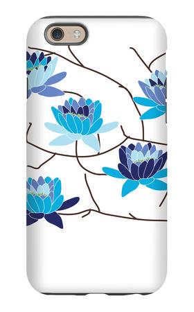 Blue Flowering Tree iPhone 6s Case by  Avalisa