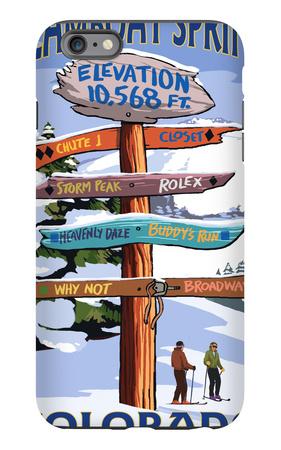 Steamboat Springs, Colorado - Ski Run Signpost iPhone 6 Plus Case by  Lantern Press