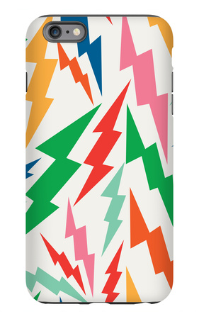 Colorful, Retro Bolt Seamless Pattern iPhone 6s Plus Case by  cienpies