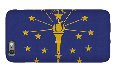 Indiana State Flag iPhone 6s Plus Case by  Lantern Press