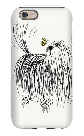 Shaggy Dog with Butterfly iPhone 6s Case