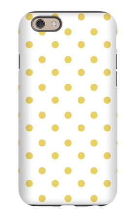 Yellow Polk-a-dots iPhone 6s Case by  Avalisa