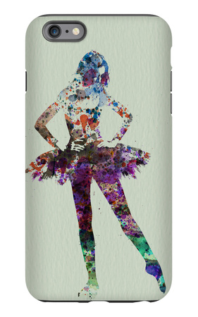 Ballerina Watercolor iPhone 6 Plus Case by  NaxArt