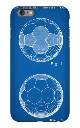 Soccer Ball Patent iPhone 6s Plus Case