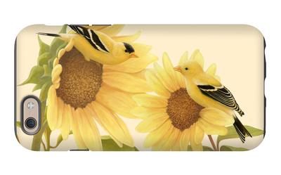 Yellow Birds on Sunflowers iPhone 6s Case